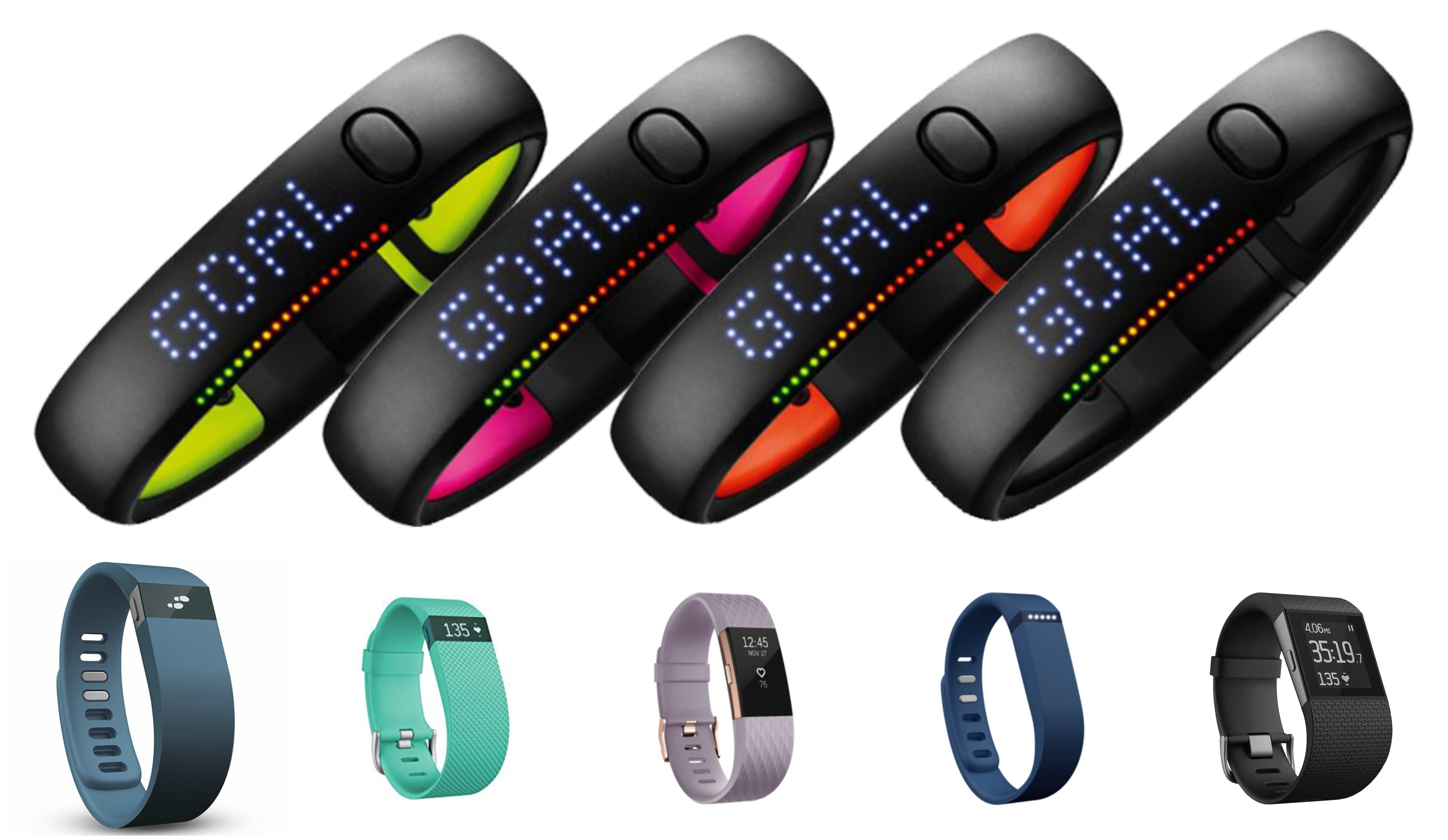 Nike FuelBand vs Fitbit charge comparison
