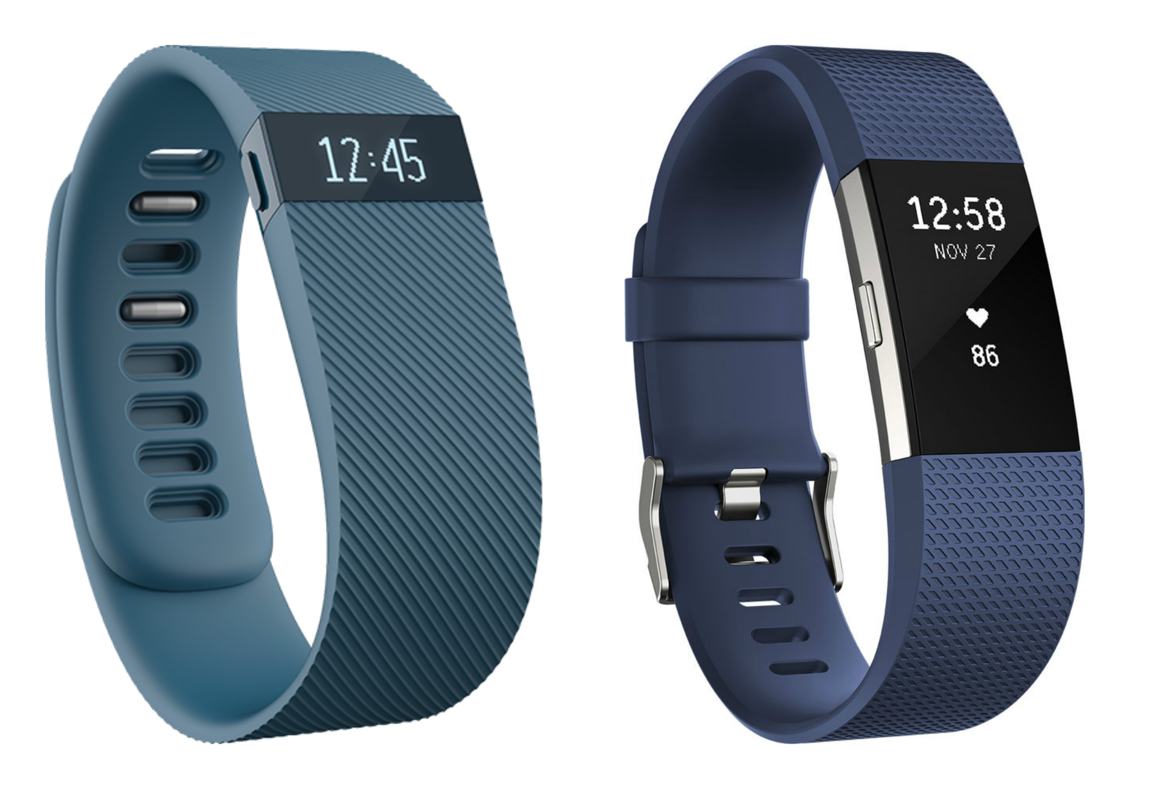 fitbit charge vs fitbit charge 2