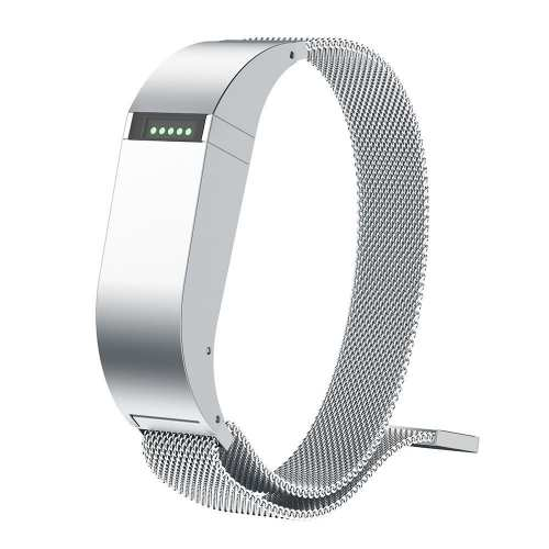 ANCOOL for Fibit Flex Bands Replacement Stainless Steel Magnetic Closure Milanese Band for Fitbit Flex (Small, Silver)