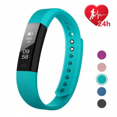 Fitness Tracker HR, Letscom Activity Tracker with Step Counter and Calorie Counter Watch Pedometer, Slim Heart Rate Monitor Watch for...