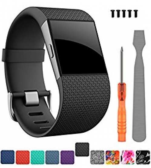 For Fitbit Surge Bands,CreateGreat Replacement Band Strap for Fitbit Surge Watch Fitness Tracker Original Wrist Band Accessories Small&Large