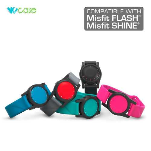 WoCase Wristband for Misfit FLASH and SHINE (1st Gen.) Activity and Sleep Tracker Band Bracelet (One size, Fits Most Wrist)