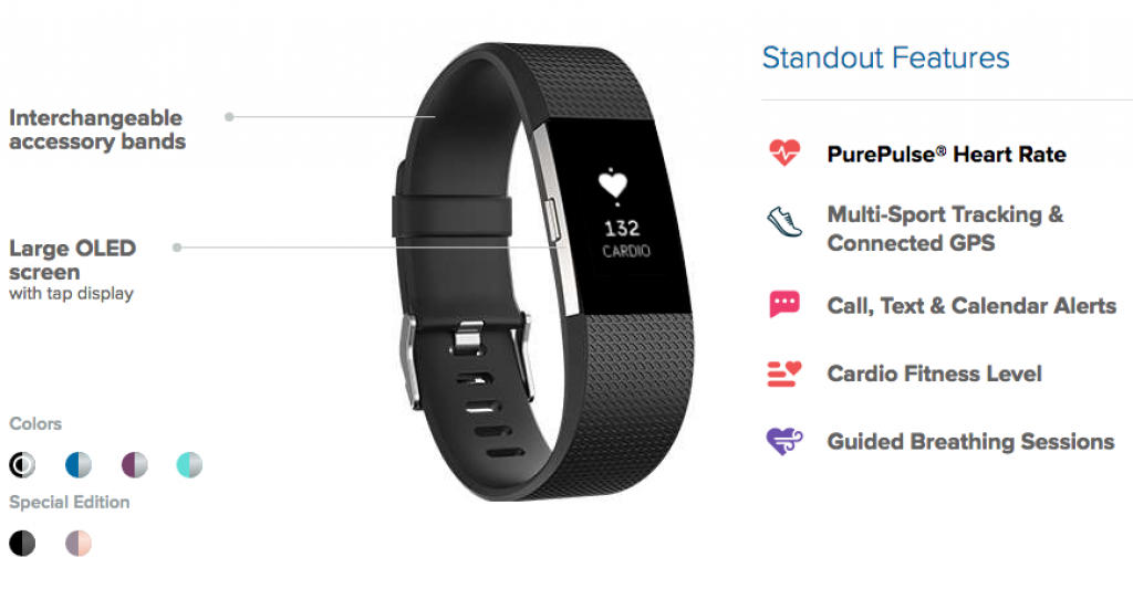 Fitbit Flex 2 and Charge 2, Contact